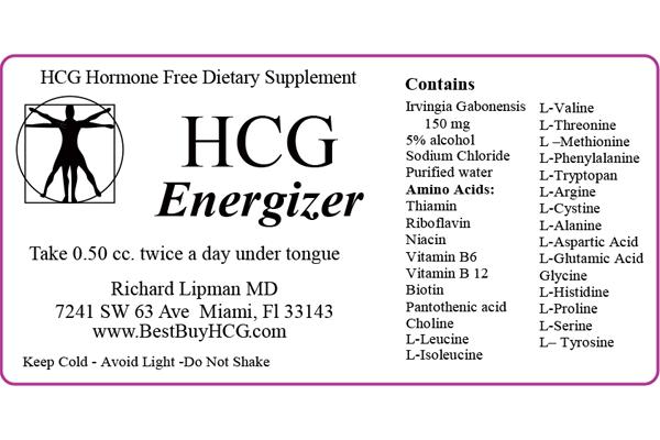 HCG Energizer (Hormone Free) with Amino Acids & African Mango – 60 Days Image 3